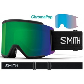 Masque Smith Squad XL 2018 Black Chromapop Sun Green Mirror